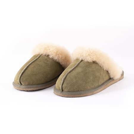 Shepherd Pantoffels Jessica Olijfgroen 01