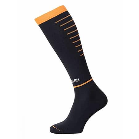 Horizon Compressiekousen zwart oranje