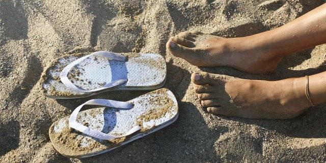 Mooie zomer voeten